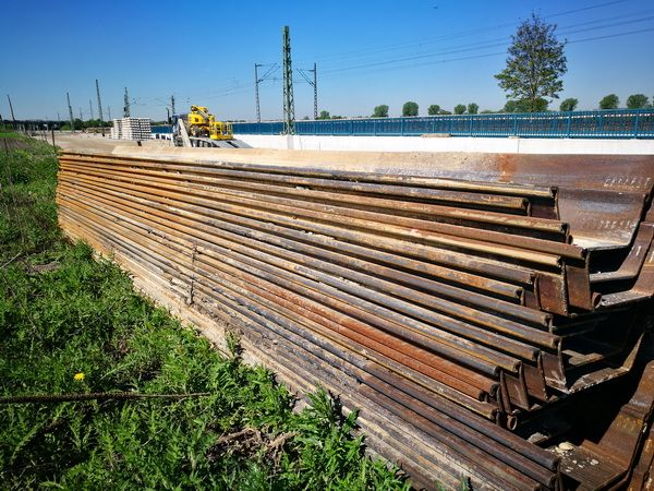 Used sheet piling ARGE NNF for DB near Munich Airport
