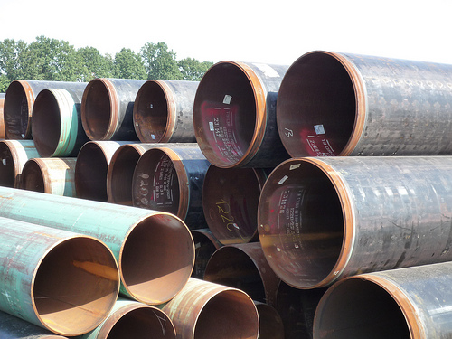 Steel pipes with and without PU coating, new and used pipes