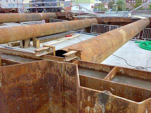 Material zur Aussteifung von Baugruben